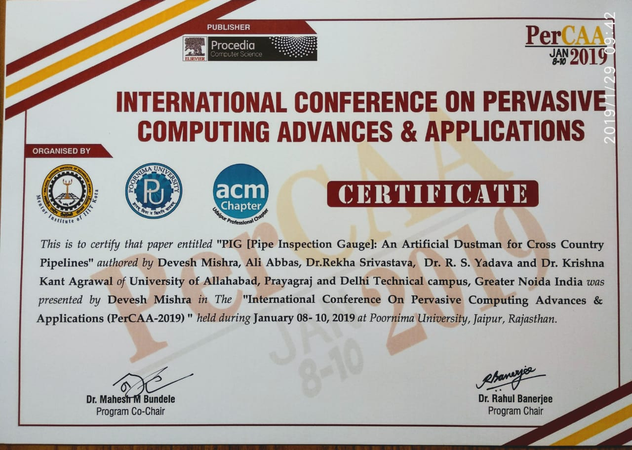 International Conference On Pervasive Computing Advances & Application